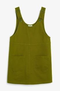 green dungaree dress - monki - uk style blogger.jpg
