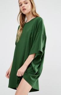green oversized tshirt dress - asos - wishlist - uk style blogger.jpg