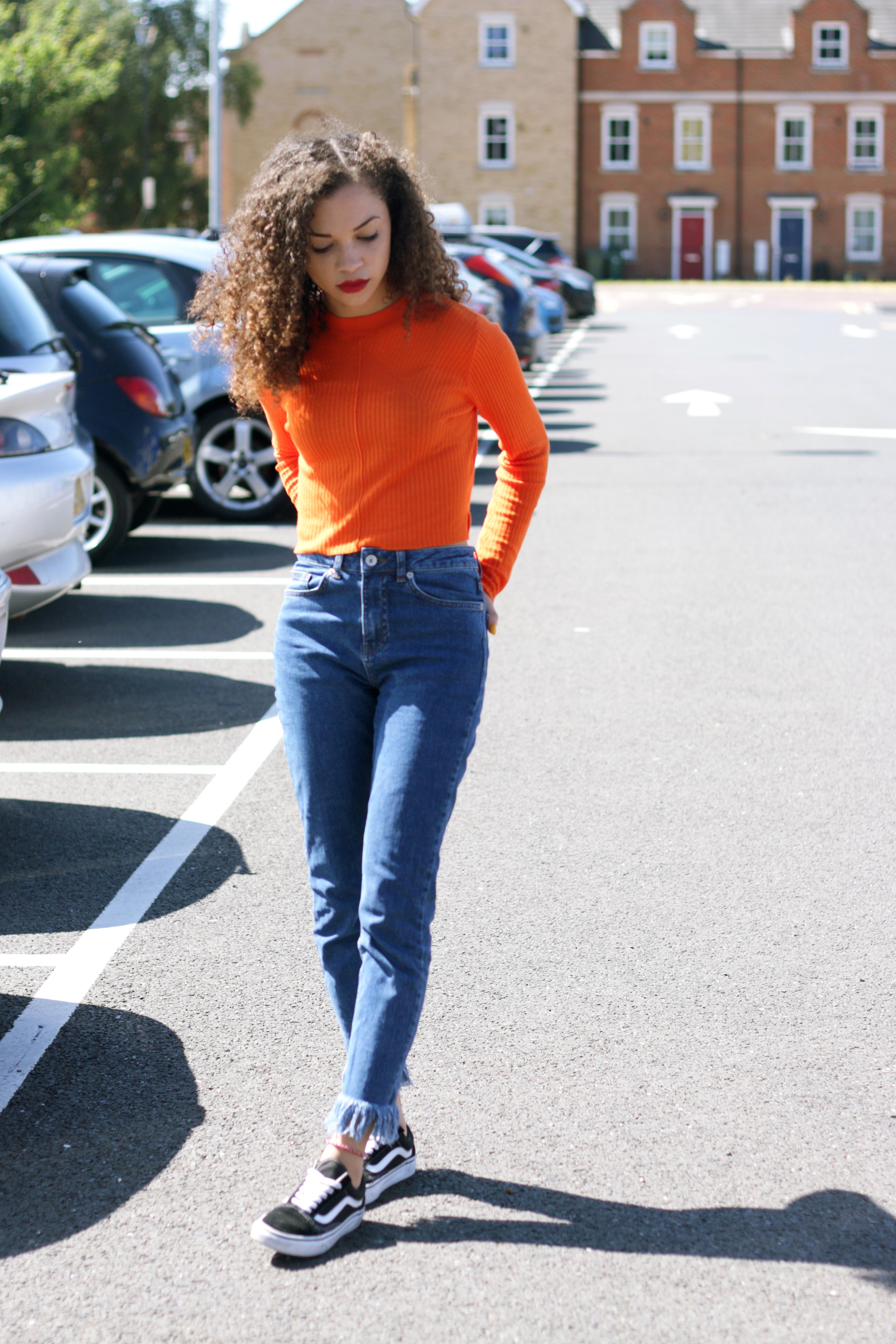orange cropped jumper - missguided - charnellegeraldine - uk style blogger 4