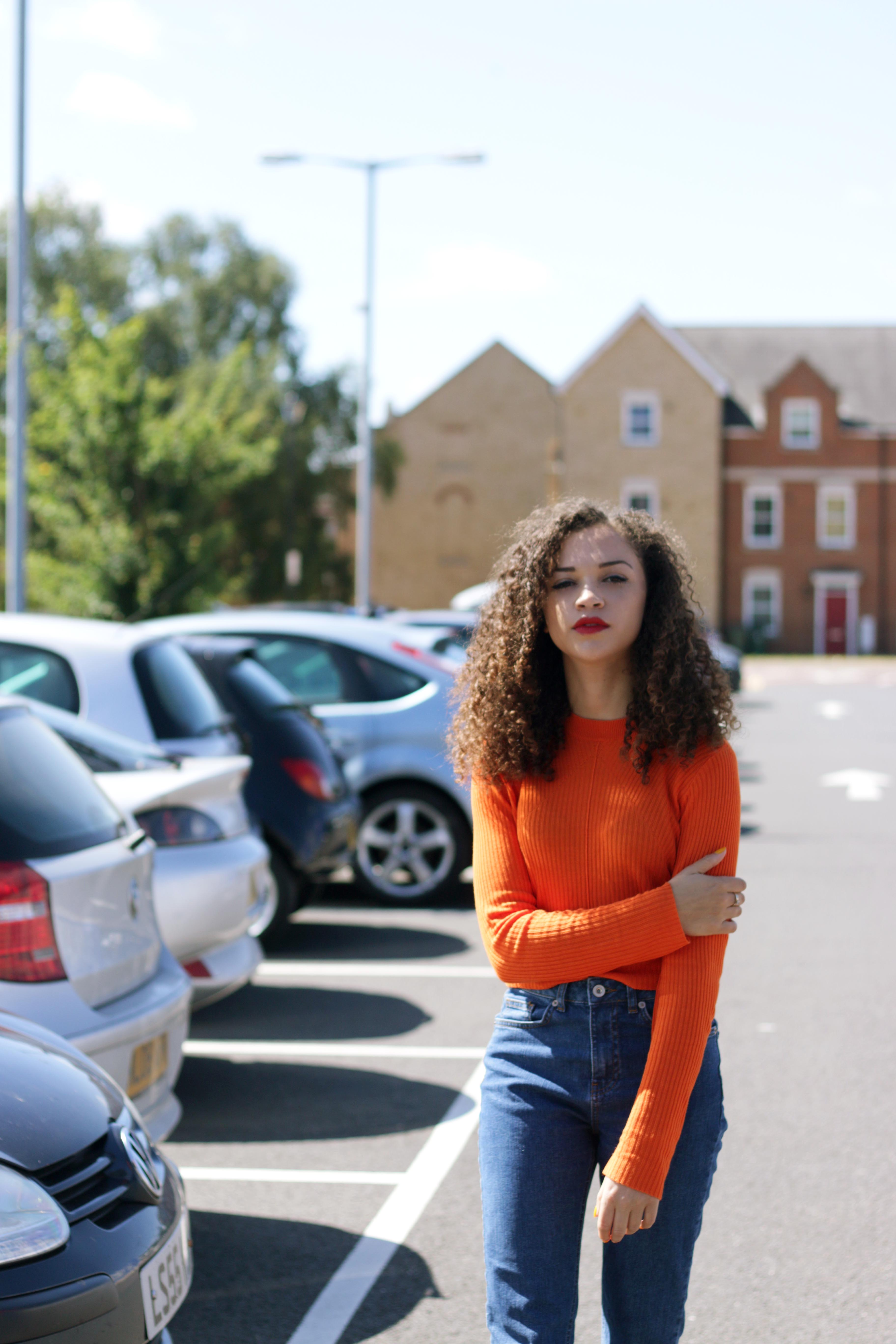 orange cropped jumper - missguided - charnellegeraldine - uk style blogger 5