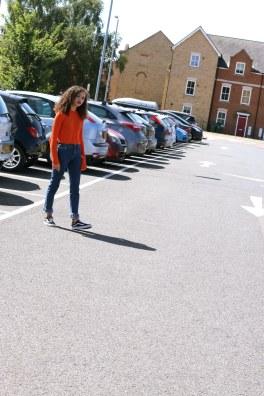 orange cropped jumper - missguided - charnellegeraldine - uk style blogger 6