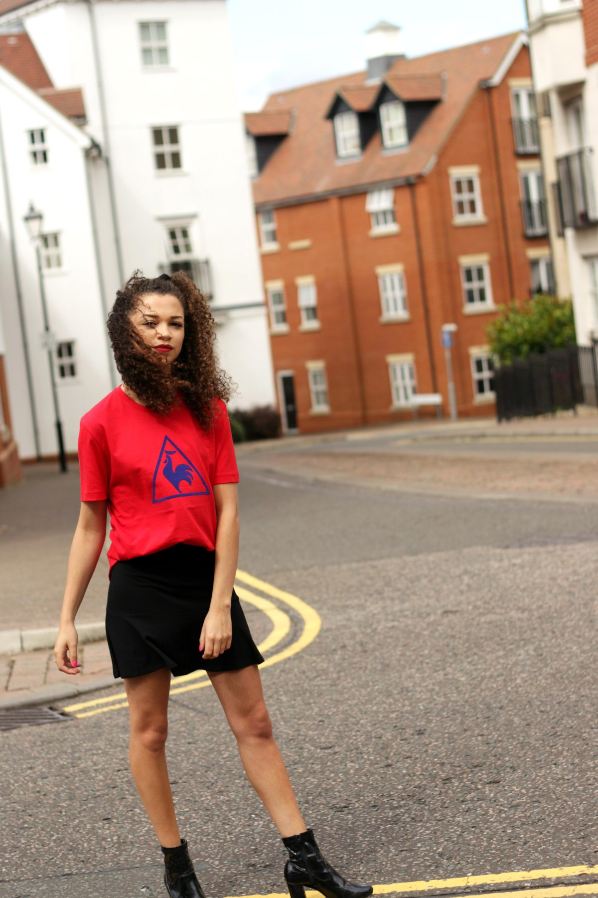 red le coq sportif tshirt - feminising the sports trend - style diary - charnelle geraldine 2