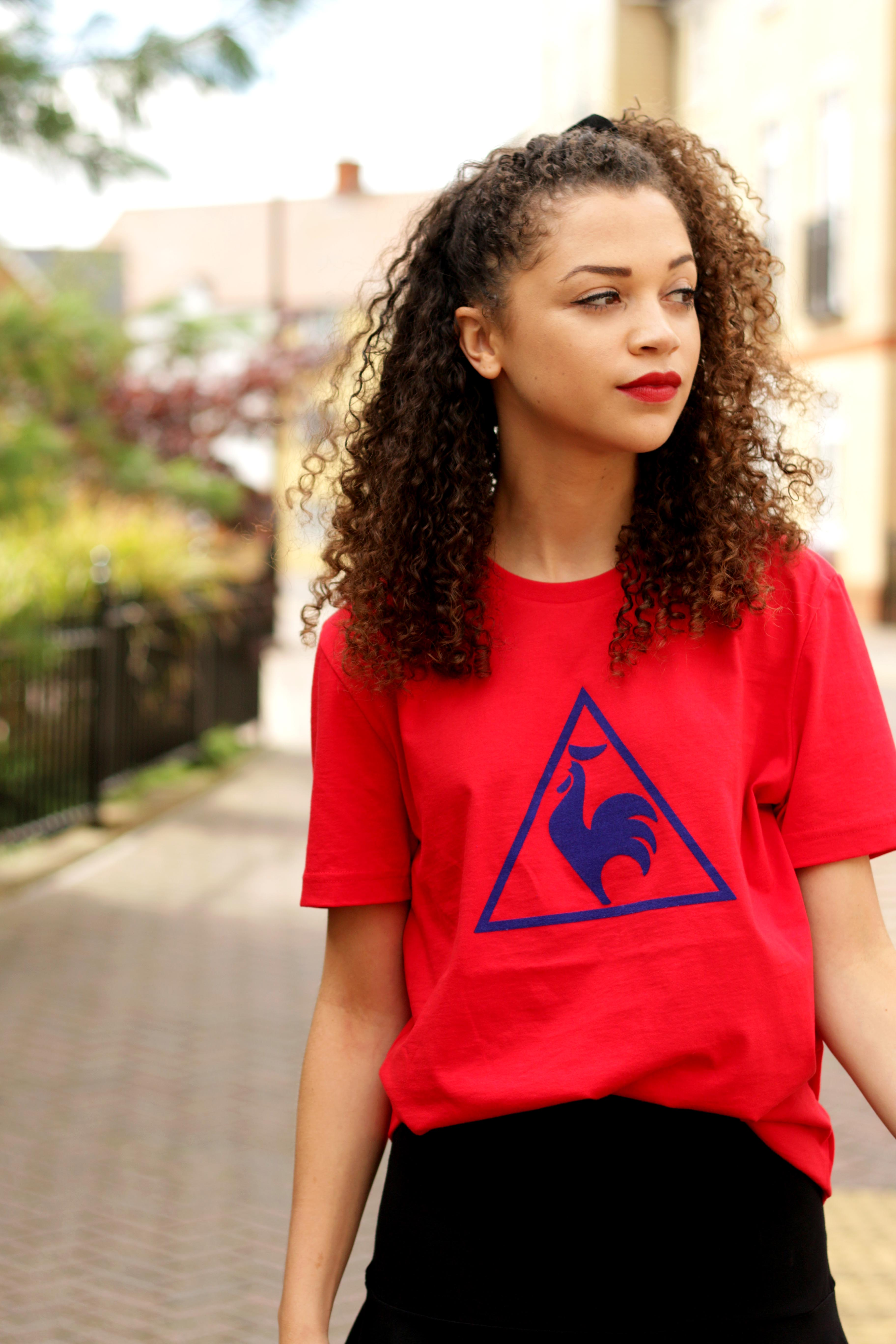 red le coq sportif tshirt - feminising the sports trend - style diary - charnelle geraldine 3