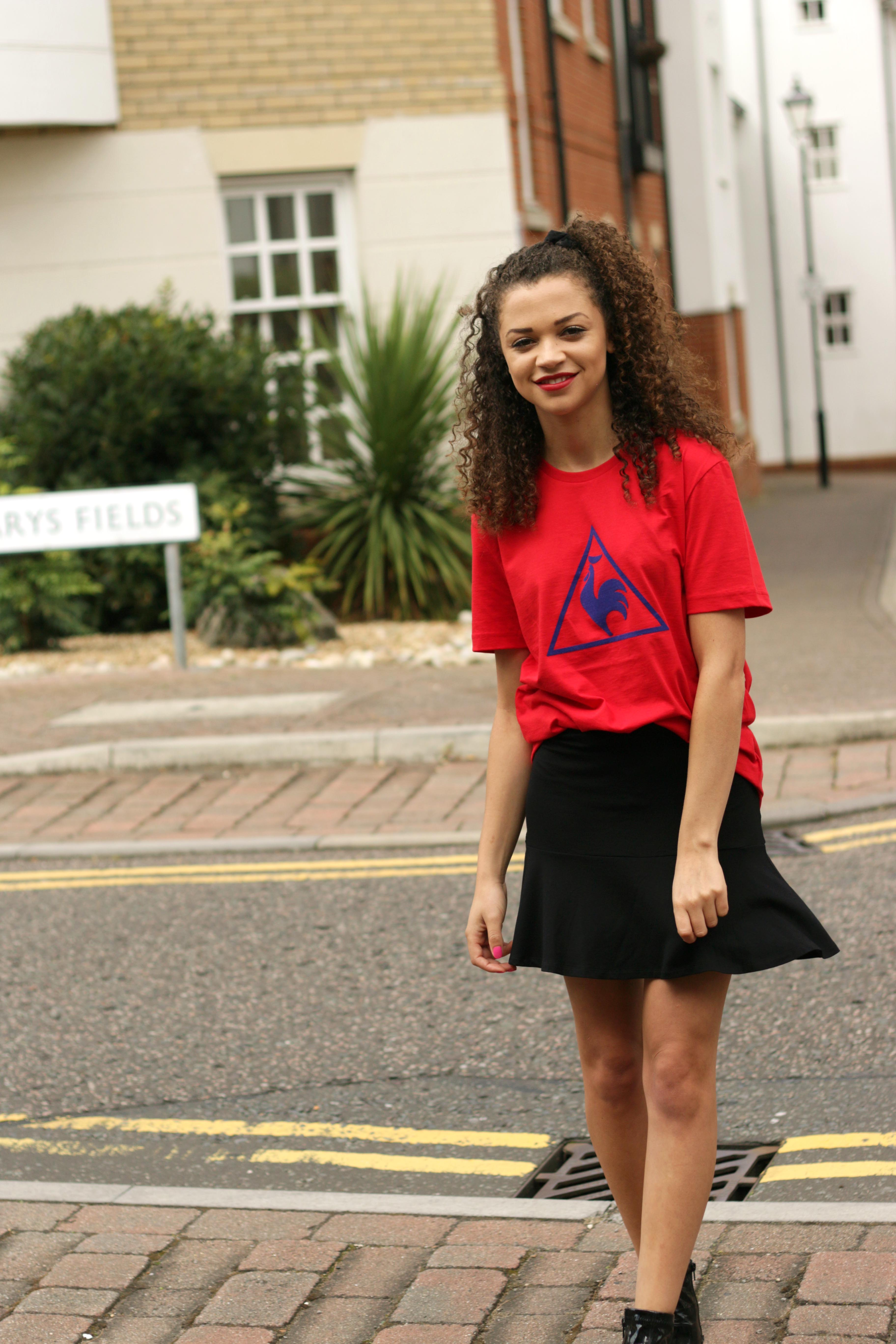 red le coq sportif tshirt - feminising the sports trend - style diary - charnelle geraldine 4