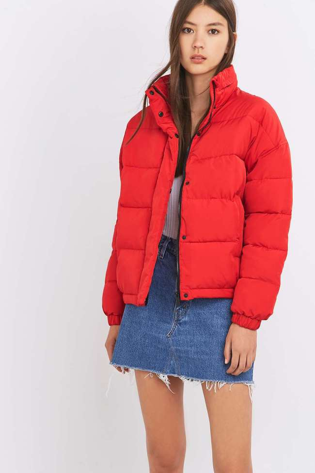 red quilted puffa jacket - urban outfitters - wishlist - uk style blogger