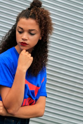 uk curly hair blogger - retro puma tshirt 5